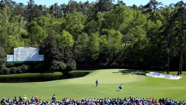 Get to the top of the hill at the 11th and Amen Corner stretches out in front.