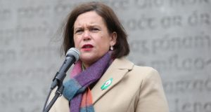 "In her Easter oration, Sinn Féin leader Mary Lou McDonald ""delivered boilerplate full of the usual platitudes on welcoming unionists into a united Ireland"". Photograph: Stephen Collins/Collins Photos"