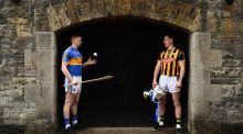 Tipperary's Brendan Maher and Cillian Buckley of Kilkenny ahead of the   Allianz  League Division 1 hurling final which takes place at Nowlan Park,  Kilkenny, on Sunday.  Photograph: Brendan Moran/Sportsfile