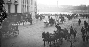 The Mall, Waterford, in January 1901. Photograph: National Library of Ireland/Flickr Commons