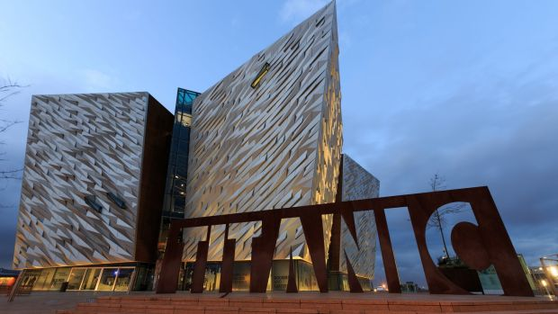The Titanic Museum on the site of the former Harland & Wolff shipyard in Belfast's Titanic Quarter. Photograph: John Walton/PA