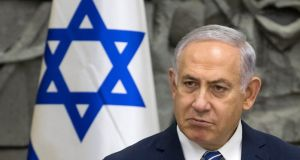 Israeli prime minister Benjamin Netanyahu: may opt for early elections this year to cash in on his popularity in the polls before the attorney general rules on an indictment. Photograph: Jim Hollander/EPA