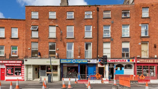 This 293sq m, four-storey Georgian, on Bolton Street, Dublin 1, has a bike shop at ground level paying €24,000 annually. Upstairs is a six-bed house.