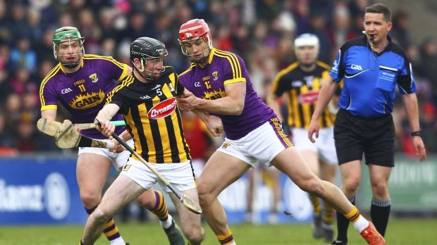 Kilkenny's Conor Delaney: managed to cut down aerial threat of Wexford's Lee Chin during the league semi-final. Photograph: Ken Sutton/Inpho