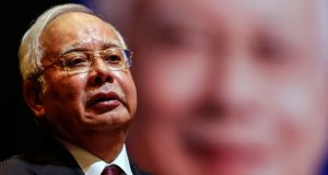 Malaysian prime minister Najib Razak: expected to announce the dissolution of parliament on Friday to make way for a general election. Photograph: Ahmad Yusni/EPA