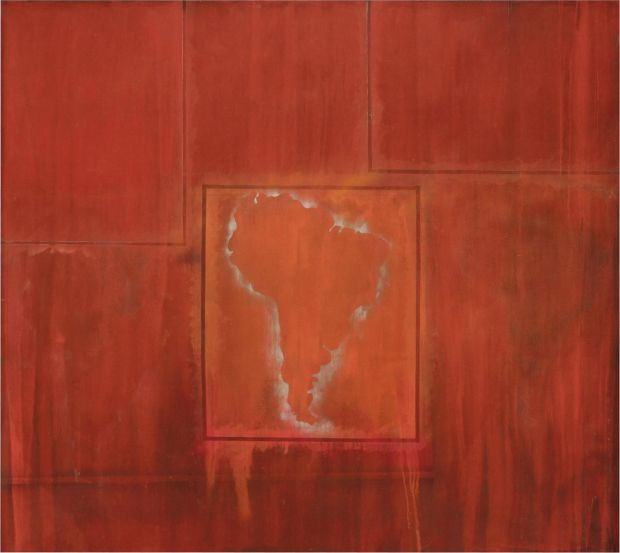 South America Squared (1967) by Frank Bowling. Copyright VG Bild-Kunst, Bonn 2017