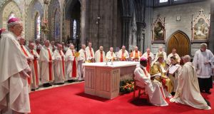 The ordination last month of Dermot Farrell as Bishop of Ossory. Nine episcopal vacancies will by next year need to be filled. Photograph: John McElroy