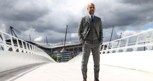Pep Guardiola: is on the cusp of winning a seventh league title in three countries. Photograph: Richard Sellers/PA Wire