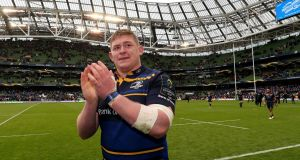 Tadhg Furlong: in the Leinster line-up to face Zebre at the RDS. Photograph: Dan Sheridan/Inpho