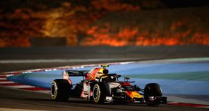 Max Verstappen of  Red Bull Racing  during practice for the Bahrain  Grand Prix. Photograph: Clive Mason/Getty Images
