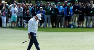 Rory McIlroy during final round play of the 2018 Masters in Augusta. Photograph: Reuters