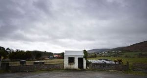 Borderlands: A disused border post near Newry. Photograph: Getty Images