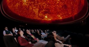 An immersive experience at the Peter Harrison Planetarium at the Observatory in Greenwich, London. Photograph: © National Maritime Museum, London