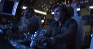 Alden Ehrenreich is Han Solo and Joonas Suotamo is Chewbacca in Solo: A Star Wars Story. Photogrpag: Disney/LucasFilm