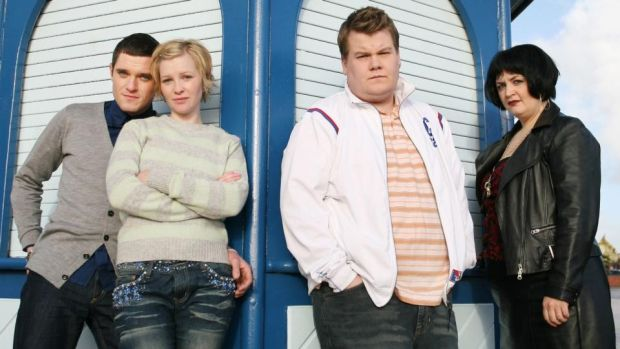 Gavin & Stacey: Ruth Jones with Mathew Horne, Joanna Page and James Corden in the BBC comedy