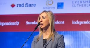 Data Protection Commissioner Helen Dixon during the second annual Data Protection Conference Dublin Data Sec 2018 at the RDS in Dublin. Photograph: Gareth Chaney Collins