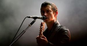 Alex Turner at Marlay Park in 2014. Photograph: EPA