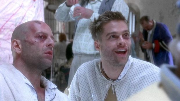 12 Monkeys: Bruce Willis and Bradd Pitt in the Terry Gilliam film