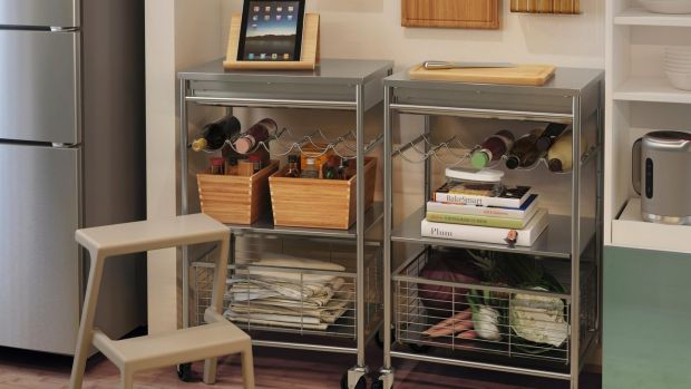 Easy and accessible open storage from Ikea