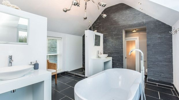 The bathroom of Linda Barker's Yorkshire home : the house is now for sale.