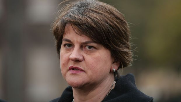 DUP leader Arlene Foster: knows the dynamics have shifted in the North. Photograph: Yui Mok/PA
