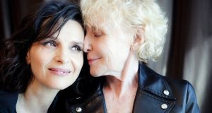 Claire Denis with Juliette Binoche, who stars in her latest film Let The Sunshine In
