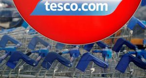 Tesco said it was firmly on track to deliver its medium-term targets which include cutting costs further and improving operating margins. Photograph: Luke McGregor/Reuters