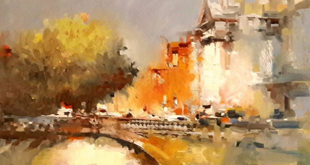 river liffey runs through dublin painting and sketching show