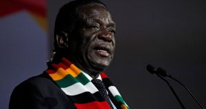"Zimbabwe's president, Emmerson Mnangagwa, who has repeatedly said this year's general election will be held in a ""free and fair"" manner. Photograph: Luc Gnago/Reuters"