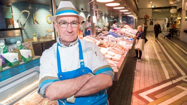 English Market fishmonger Pat O'Connell said the scheme was 'well intentioned' but was causing a 'chaotic mess in the city centre'. Photograph: Daragh Mc Sweeney/ Provision