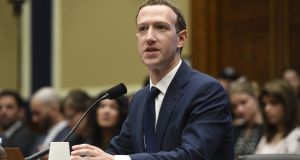 Facebook chief executive and founder Mark Zuckerberg  repeatedly defended the company's privacy practices at the congressional hearing. Photograph: Saul Loe/Getty Images