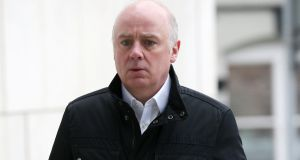 Former Anglo Irish Bank chief executive David Drumm (51) arriving at Dublin Circuit Criminal Court. Photograph: Collins Courts.