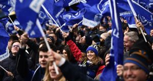 Leinster supporters attending the  European Champions Cup semi-final against Scarlets will pay €25 for the cheapest category 5 ticket. Photograph: Getty Images