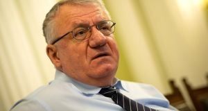 "Vojislav Seselj: ""I am proud of all my war crimes and crimes against humanity and am ready to repeat them."" File photograph: Andrej Isakovic/AFP/Getty Images"