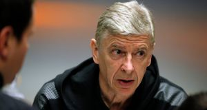 "Arsenal manager Arsene Wenger: ""The Europa League is one of the big targets now."" Photograph: Sergei Chirikov/EPA"