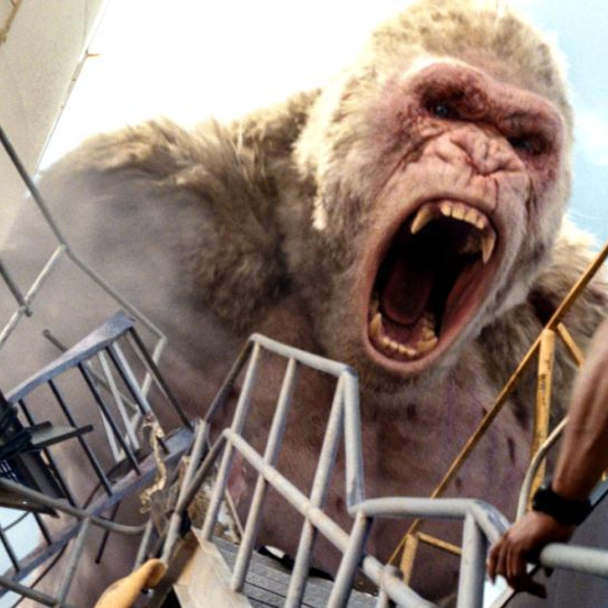 Rampage review: the Rock v a giant ape  It's worse than it