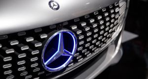 Mercedes-Benz is planning to challenge Tesla in the premium electric vehicle market. Photograph: Omer Messinger/EPA