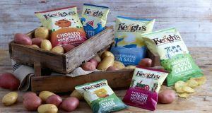 Keogh's Crisp flavours selected by the Emirates Group include Irish mature cheddar, shamrock and sour cream and lightly salted.