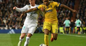 Real Madrid versus Juventu in the UEFA Champions League quarter-final second leg on Wednesday.