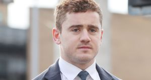 Ireland and Ulster rugby player Paddy Jackson: unanimously acquitted in Belfast Crown Court  of raping a woman. Photograph: Niall Carson/PA Wire
