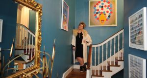 Andrea Horan in her hallway in her house on Curzon Street, Dublin 8. Photograph: Aidan Crawley