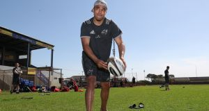 Simon Zebo during a Munster training session at City Park Stadium, Cape Town. Photograph: Inpho