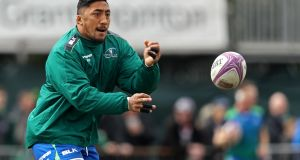Bundee Aki is in the Connacht team for Friday night's match. Photograph: Tommy Dickson/Inpho