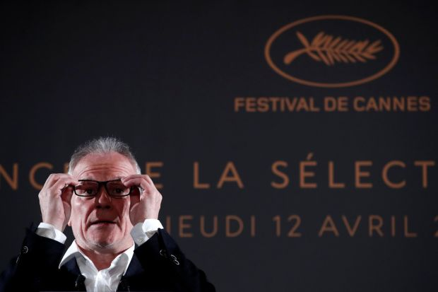 Thierry Frémaux at the official selection for the 71st Cannes Film Festival. Photograph: Benoit Tessier/Reuters