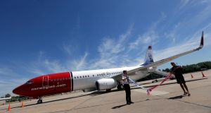 Shares in Norwegian Air rose 47%  after IAG said it was considering marking an offer for the carrier. Photograph: Reuters