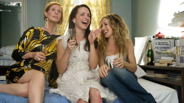 Miranda (Cynthia Nixon), Charlotte (Kristin Davis) and Carrie (Sarah Jessica Parker) in Sex and the City