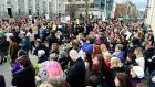 Belfast:  street protests  took place across Ireland after the rape trial ended. Photograph: Pacemaker Press