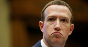 The storm isn't passing for Facebook chief executive Mark Zuckerberg. Photograph: Reuters