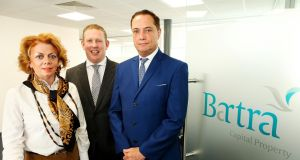 Barta's development and construction director   Grainne Hollywood, CEO Mike Flannery and founder Richard Barrett. Photograph: Mark Maxwell