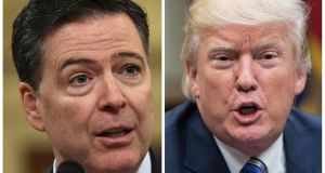 Former FBI director James Comey says in a new book that US president Donald Trump reminded him of a mafia boss. Photograph: Nicholas Kamm/AFP/Getty Images